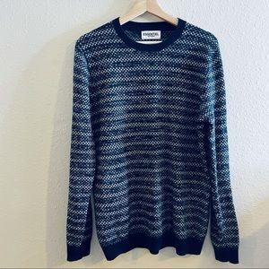 Essentiel Antwerp Blue White Wool Cashmere Sweater